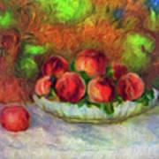 Soft Peaches Still Life Poster
