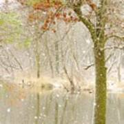 Softly Falls The Snow Poster by Lori Frisch