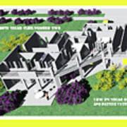 Solar Cube Two Axonometric Poster