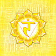 Solar Plexus Chakra - Awareness Poster