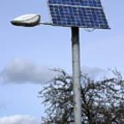 Solar Powered Street Light, Uk Poster