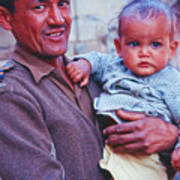 Soldier And Baby Poster