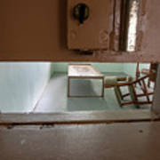 Solitary Confinement Cell Through Door Slat Poster