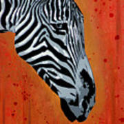 Solitude In Stripes Poster by Tai Taeoalii