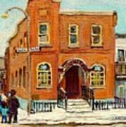 Solomons Temple Montreal Bagg Street Shul Poster by Carole Spandau