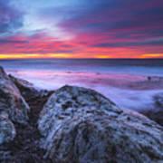 Solstice Sunrise At Jennes Beach Poster