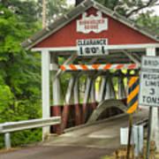 Somerset County Burkholder Covered Bridge Poster