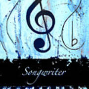 Songwriter - Blue Poster