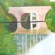 Sonning Bridge In Autumn Poster