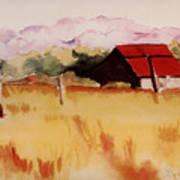 Sonoma Wheatfield Poster by Patricia Halstead