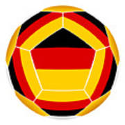 Soocer Ball With Germany Flag Poster