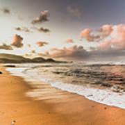 Soothing Seaside Scene Poster