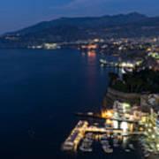 Sorrento Bay At Night Poster
