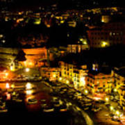 Sorrento Harbor At Night Poster