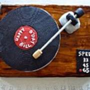 Record Player Cake Poster