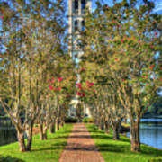 Sounds Of Victory The Bell Tower Furman University Greenville South Carolina Art Poster