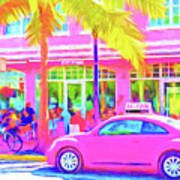 South Beach Pink Poster