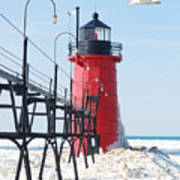 South Haven Pierhead Light Poster