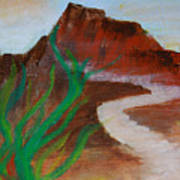 South Mountain Sunset Impression Poster
