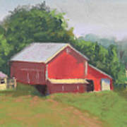 South View Of Meyer Farm Poster