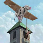 Southampton Cow Flight Poster by Martin Davey