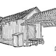 Southern Pacific Depot, Skull Valley, Az Poster