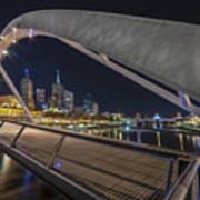 Southgate Bridge At Night Poster
