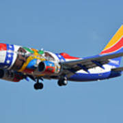 Southwest Boeing 737-7h4 N280wn Missouri One Phoenix Sky Harbor January 24 2016 Poster