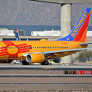 Southwest Boeing 737-7h4 N781wn New Mexico Phoenix Sky Harbor January 17 2016 Poster