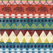 Southwest With Bears- Art By Linda Woods Poster