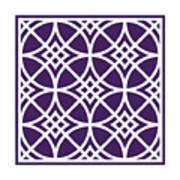 Southwestern Inspired With Border In Purple Poster
