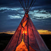 Southwestern Teepee Sunset Poster