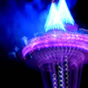 Space Needle Fireworks Poster