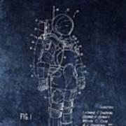Space Suit Patent Illustration Poster