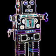 Spaceman Robot Poster