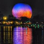 Spaceship Earth Reflection Poster