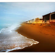 Spanish Beach Chalets Poster