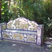 Spanish Bench Poster