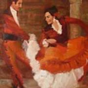 Spanish Dancers Poster