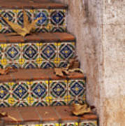 Spanish Tile Stair  Poster