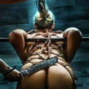 Spanking - Fine Art Of Bondage Poster
