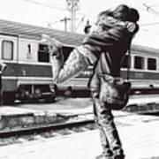 Sparkle At The Train Station - Ballpoint Pen Art Poster
