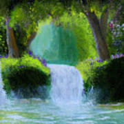 Sparkling Waterfall Poster