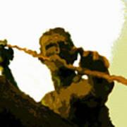 Spearfishing Man Poster