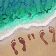 Speck Family Beach Feet Poster