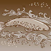 Speckled Trout Fish Poster by Aloysius Patrimonio