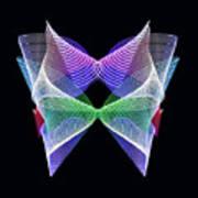 Spectrum Butterfly Poster
