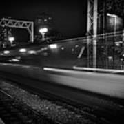 Speedy Train At Kings Cross Poster