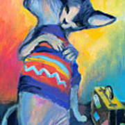 Sphynx Cats Friends Poster