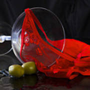 Spilled Martini With Red Panties Poster